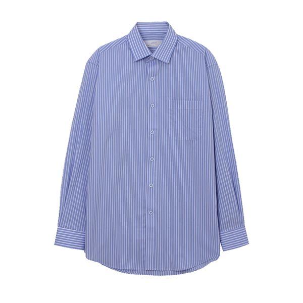 맨하탄 펜슬스트라이프 캐주얼셔츠 (블루)