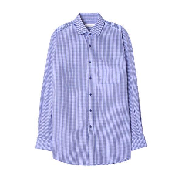 맨하탄 일반핏 나노체크 캐주얼셔츠 (블루)
