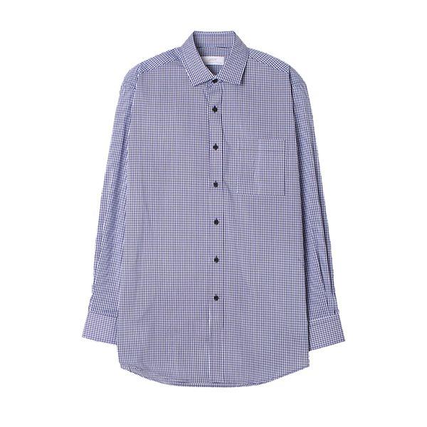 맨하탄 일반핏 나노체크 캐주얼셔츠 (네이비)