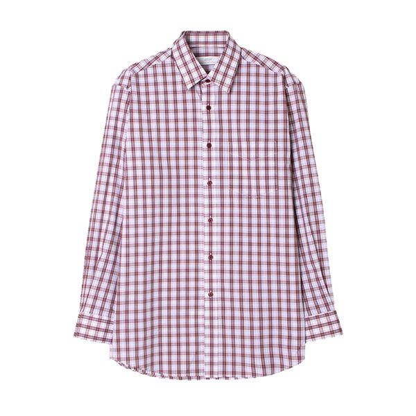 맨하탄 라이크라 타탄체크 캐주얼셔츠 (버건디)