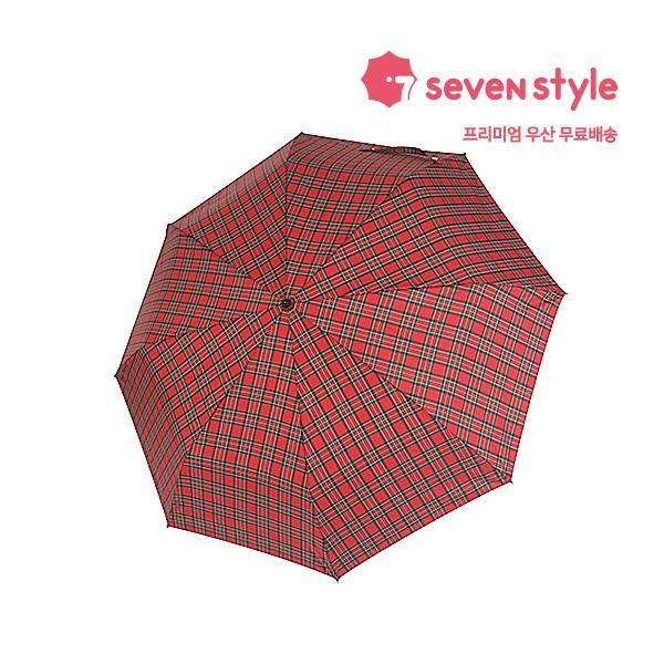 체크무늬 3단우산