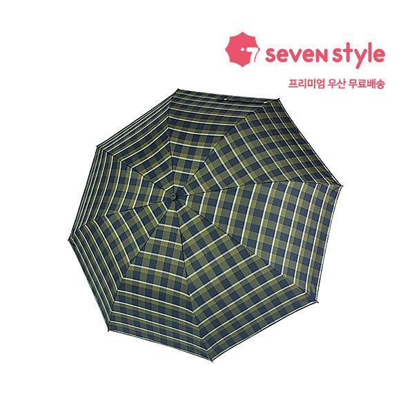 체크무늬 2단우산