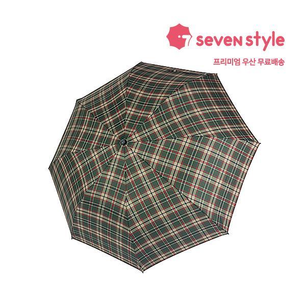 체크무늬 완전 2단자동우산